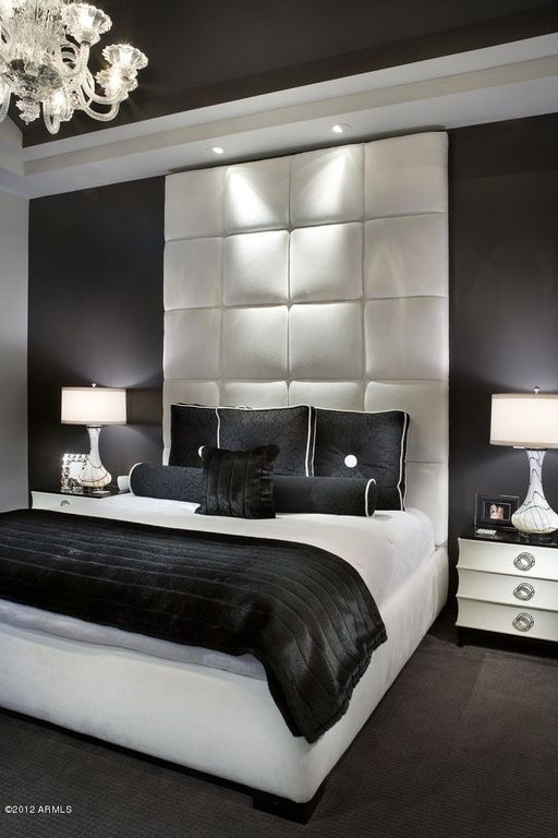 Great Contemporary Guest Bedroom Glamourous Bedroom Black Bedroom Design Bedroom Interior Black and white luxury bedroom