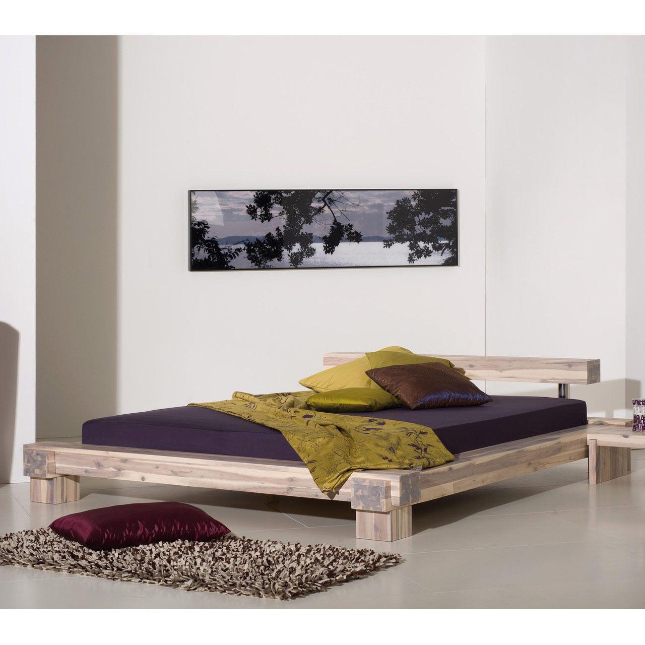 Holzbett 1 40 2 00 Fresh Massivholzbett Doppelbett Holzbett Bett Balkenbett Akazie Furniture Futon Living Room Bed Design