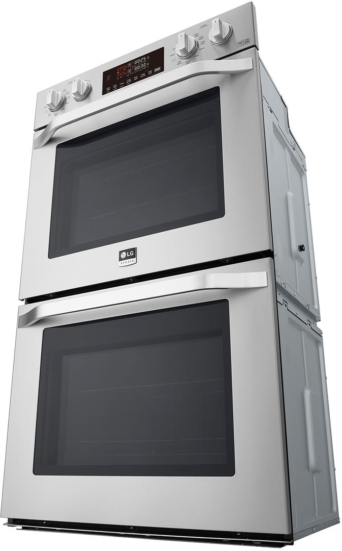 Lg Studio Lswd307st 30 Inch Built In Double Electric Wall Oven With Self Cleaning Wi Fi Connectivity 6 Electric Wall Oven Double Electric Wall Oven Wall Oven