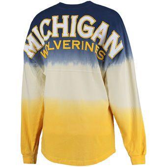 71aabffe7d9bf56003b1600b428c1961 michigan wolverines women's pom pom jersey long sleeve top navy,U Of M Womens Clothing