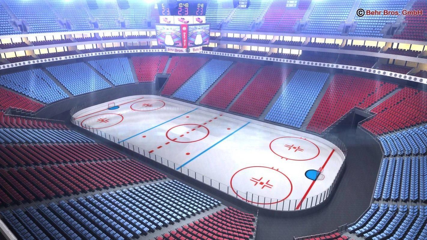 Ice Hockey Arena V2 3d Model Ad Hockey Ice Arena Model Hockey Arena Hockey Ice Hockey