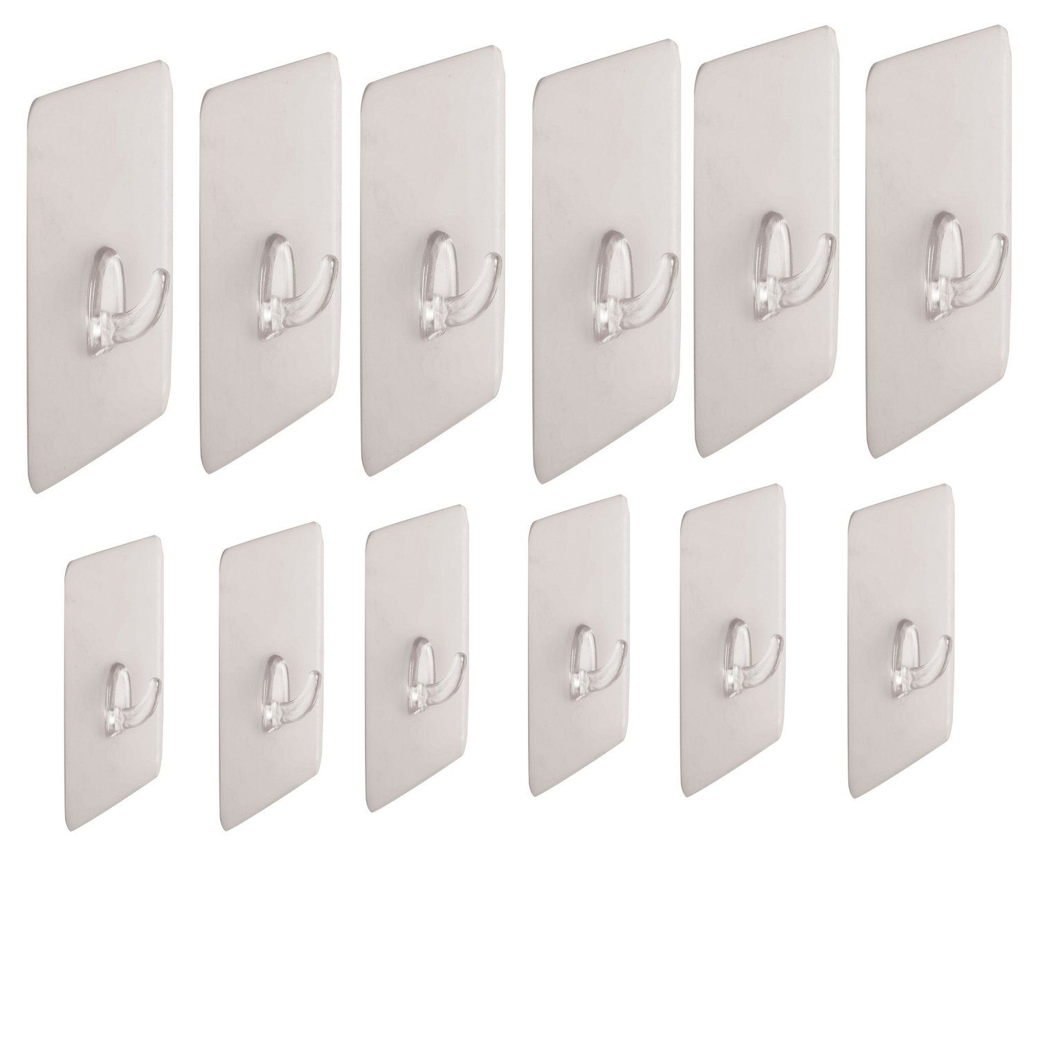 Removable Adhesive Wall Hangers Without Nails Stick On Ceiling Wall Hooks For Hanging Keys Set Of 12 Reusabl Wall Hanger Dorm Room Essentials Hanging Hooks