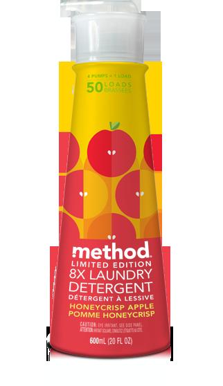 Method Honeycrisp Apple Dish Detergent Laundry Detergent Hand