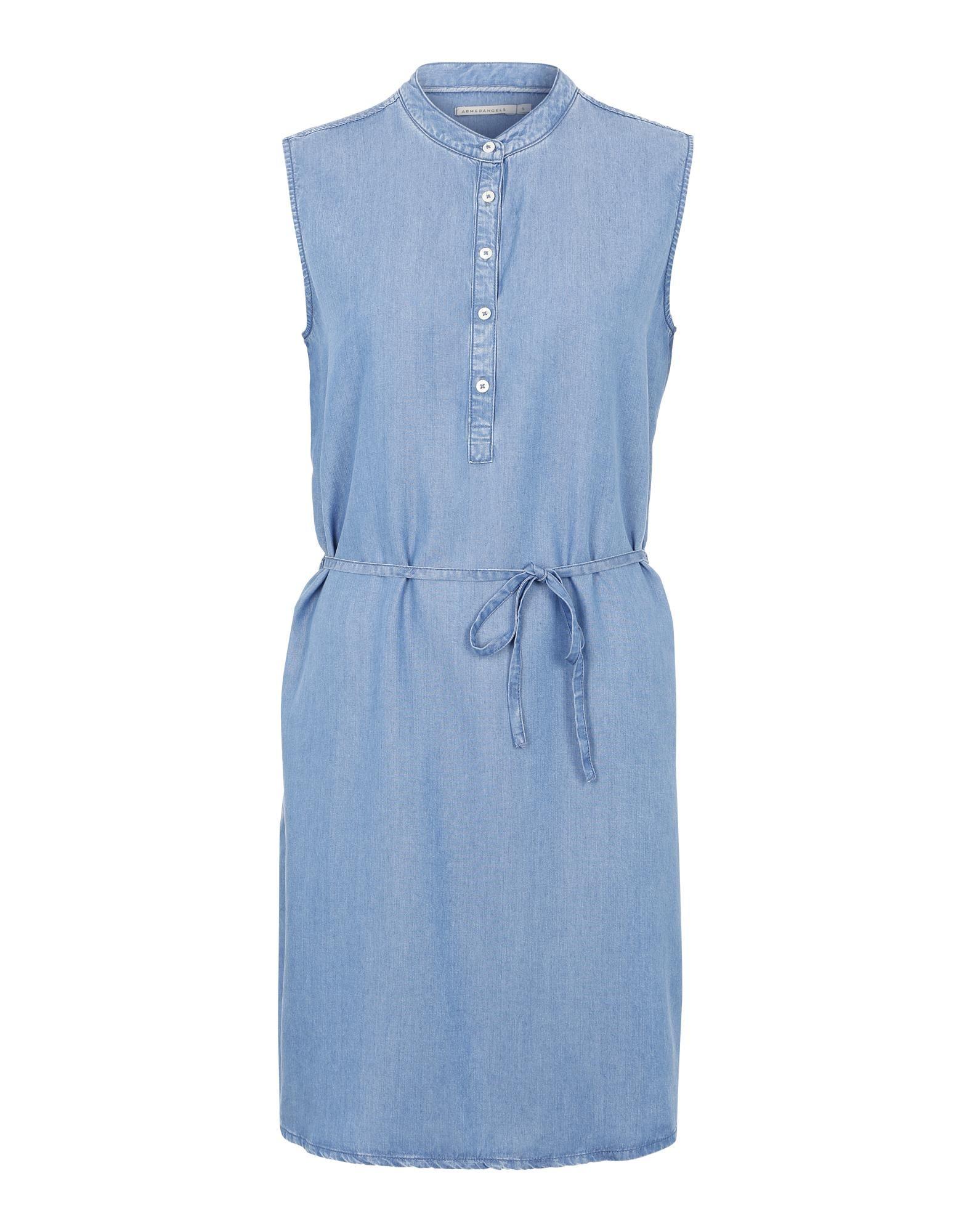 armedangels Ärmelloses kleid 'judith' in blue denim bei