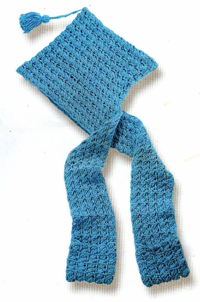 Lujo Patrón De Crochet Libre Para La Bufanda Con Capucha Y Bolsillos ...