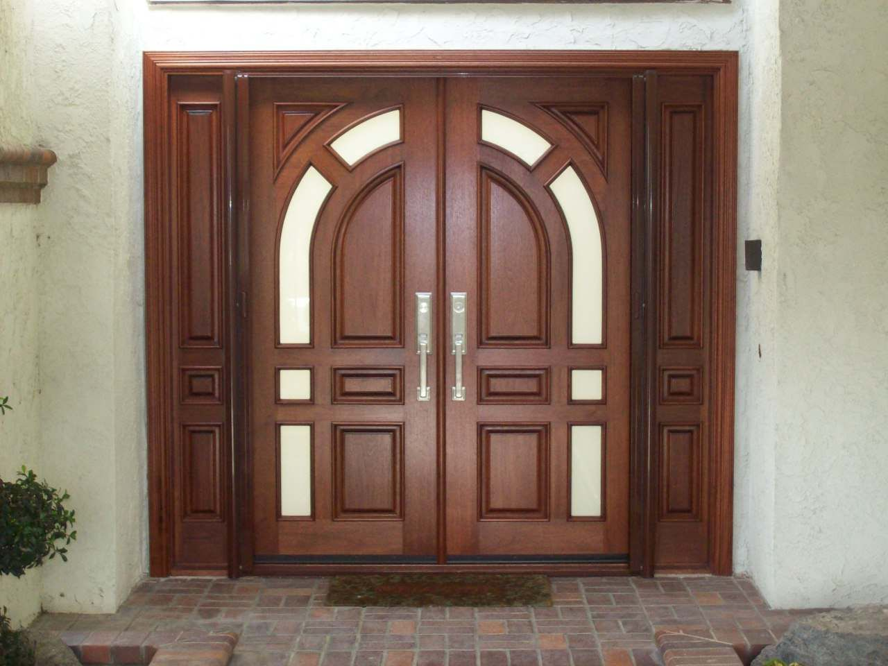 Double front entry doors exterior houses pinterest for Front door design photos