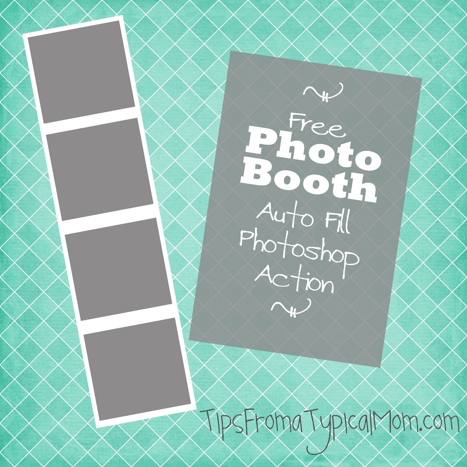 free photo booth template auto fill action for photoshop With photo booth psd template