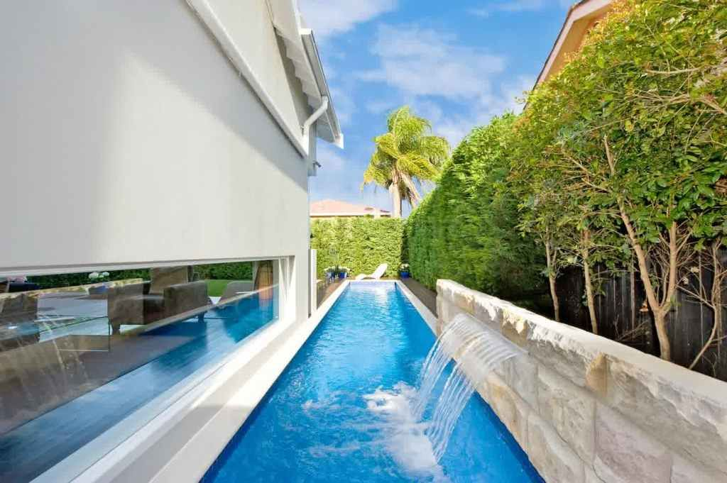 Exterior: Incredible Captivating Minist Lap Pool Designs Pools For Small  Backyards Endless Walmart Nyc In
