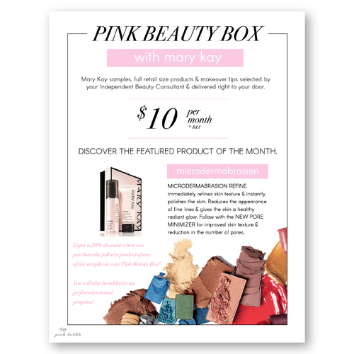 Mary Kay Pink Beauty Box!! Customize your own subscription ...