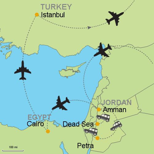 Map Petra Dead Sea Cairo Istanbul My Bucket List - Dead sea map