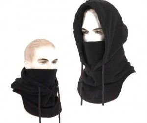 Ninja Hood – Great for keeping your face warm and your identity hidden. . .we need them in green!!!