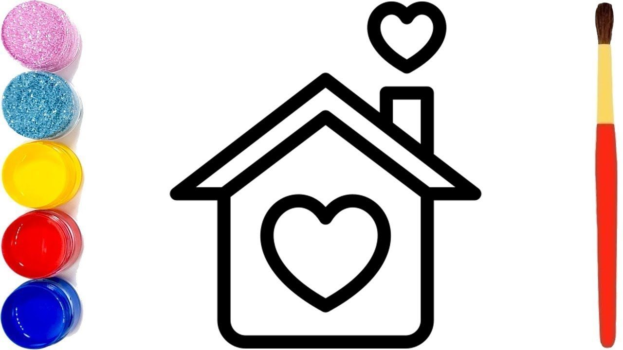 House Drawing For Kids How To Draw A House 8 Easy Coloring Pages