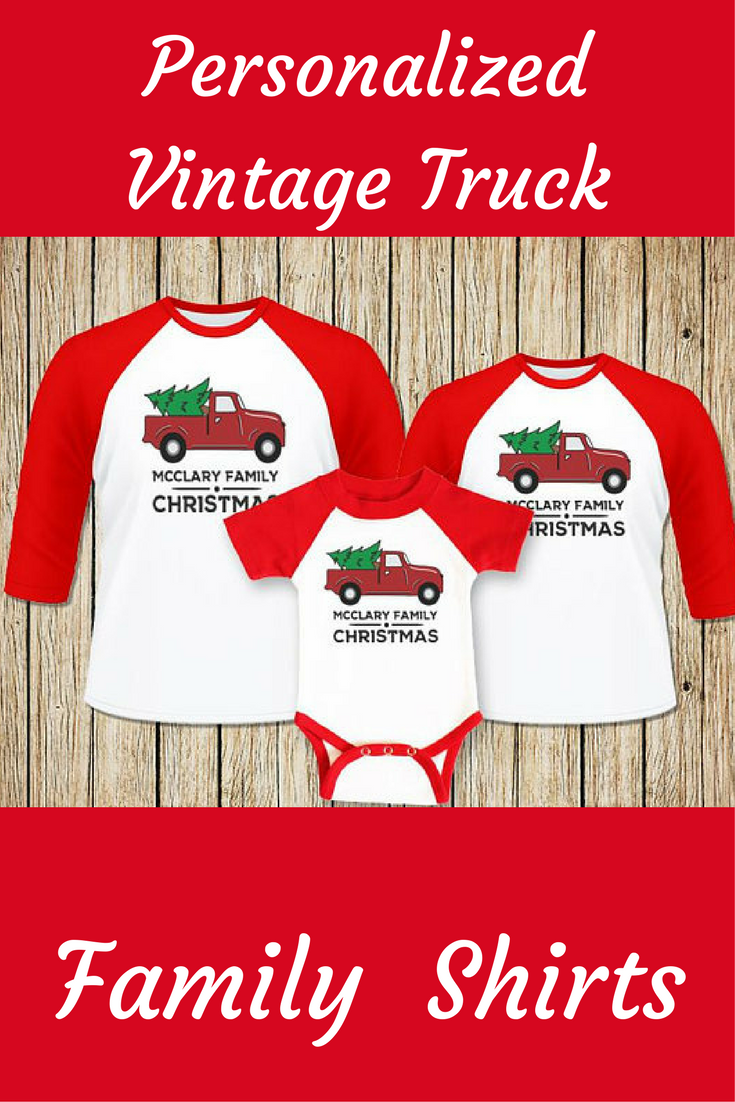 58efae9377 Matching shirts for the whole family. So cute! Vintage Truck ...