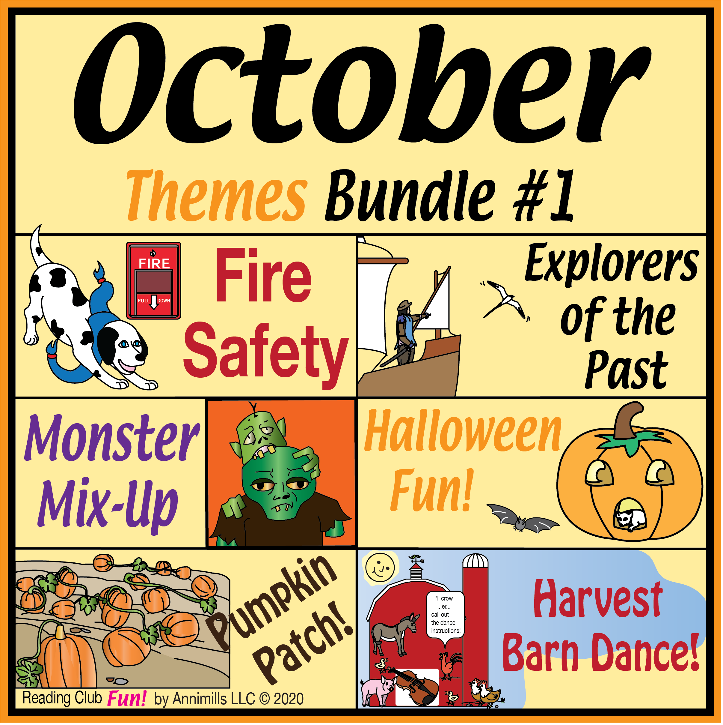 October Themes Puzzle Bundle 1 In