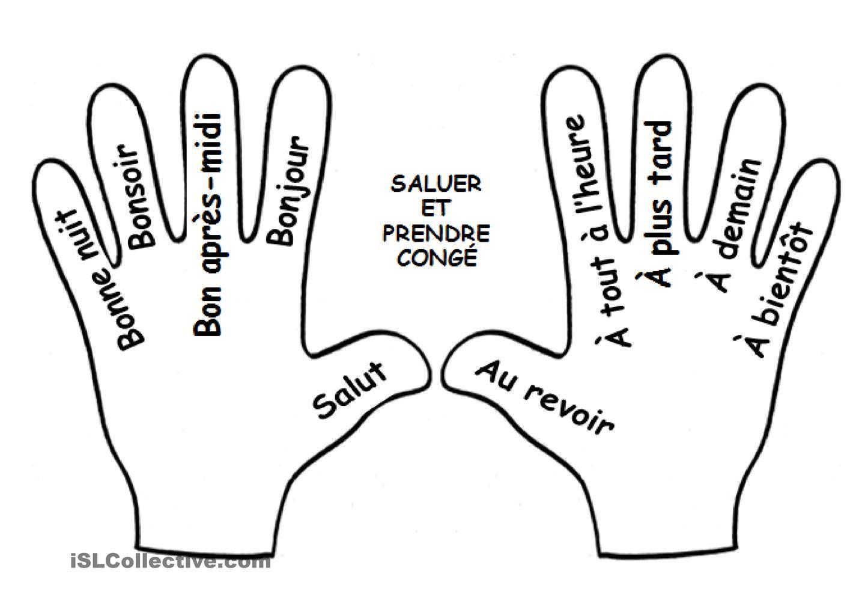 Saluer et prendre congé - MAINS | Francés | Pinterest