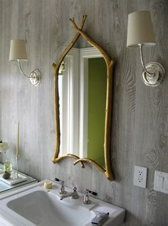 Choose  fun bathroom mirror to spruce up your decor this season also powder room design furniture and decorating ideas http home rh pinterest