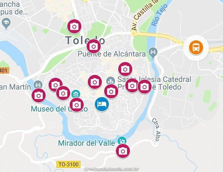 Toledo Espanha Como Chegar E O Que Fazer Em Um Dia Mapa