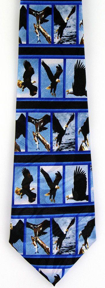 New American Bald Eagle Mens Necktie Patriotic Bird Patriotic Eagles Neck Tie #StevenHarris #NeckTie