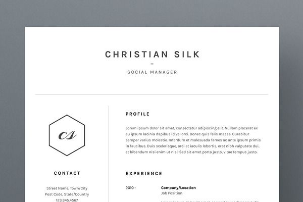 Christian Silk - Resume/CV Template CV Design #Resume #Job #Search - resume for job