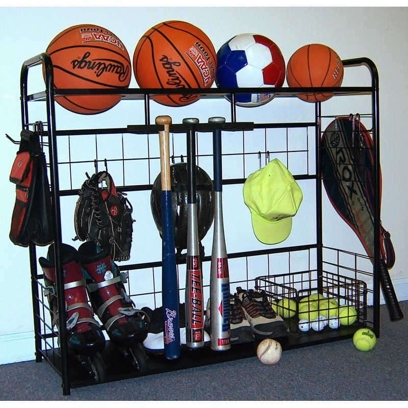 Jj International Sports Organizer Storage Rack Www Hayneedle 38 Inches