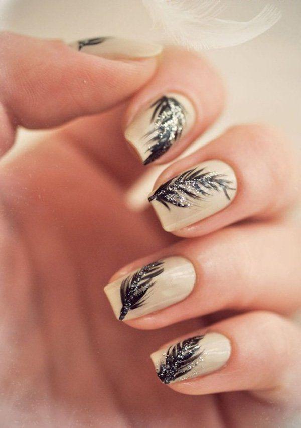 40+ Examples of Feather Nail Art <3 <3 Nail Design, Nail Art, Nail Salon,  Irvine, Newport Beach - 40+ Examples Of Feather Nail Art <3 <3 Nail Design, Nail Art, Nail