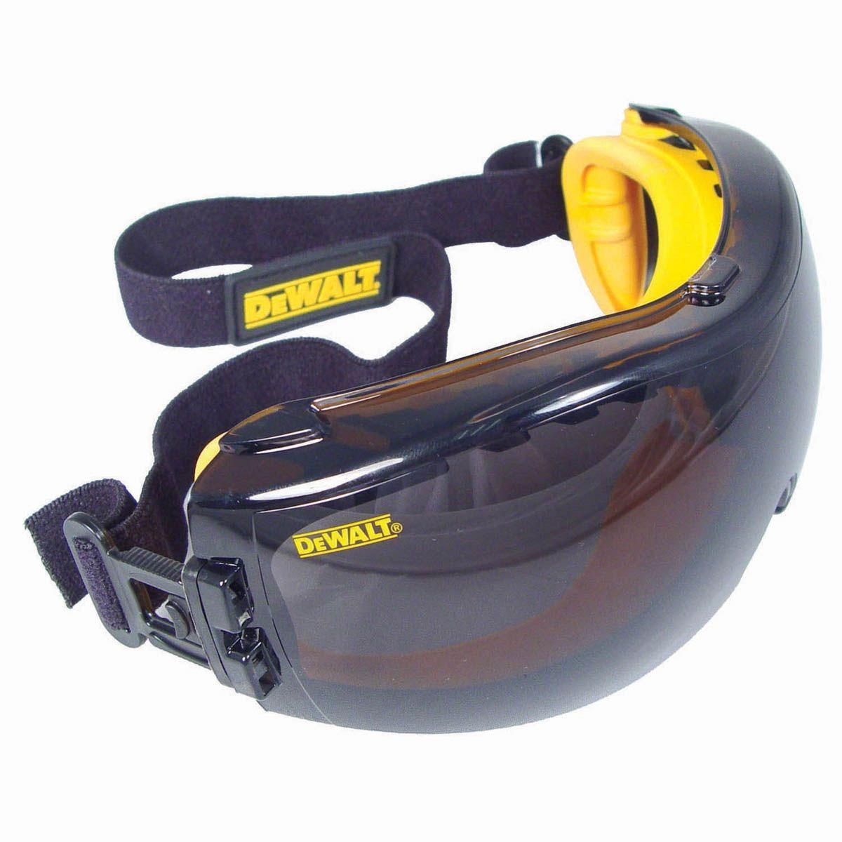 Dewalt dpg8221 concealer goggles yellow frame smoke