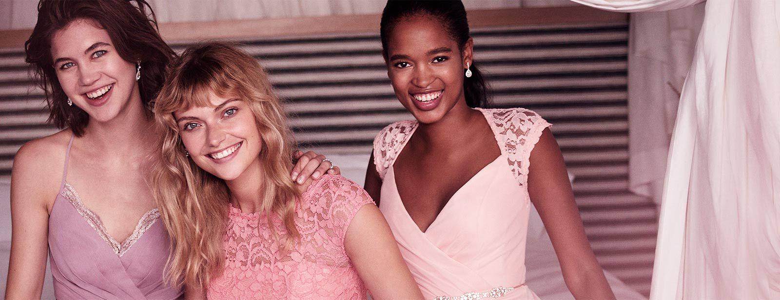 Three Bridesmaids Perfectly Mismatched   2018 #BrideTribe   Pinterest