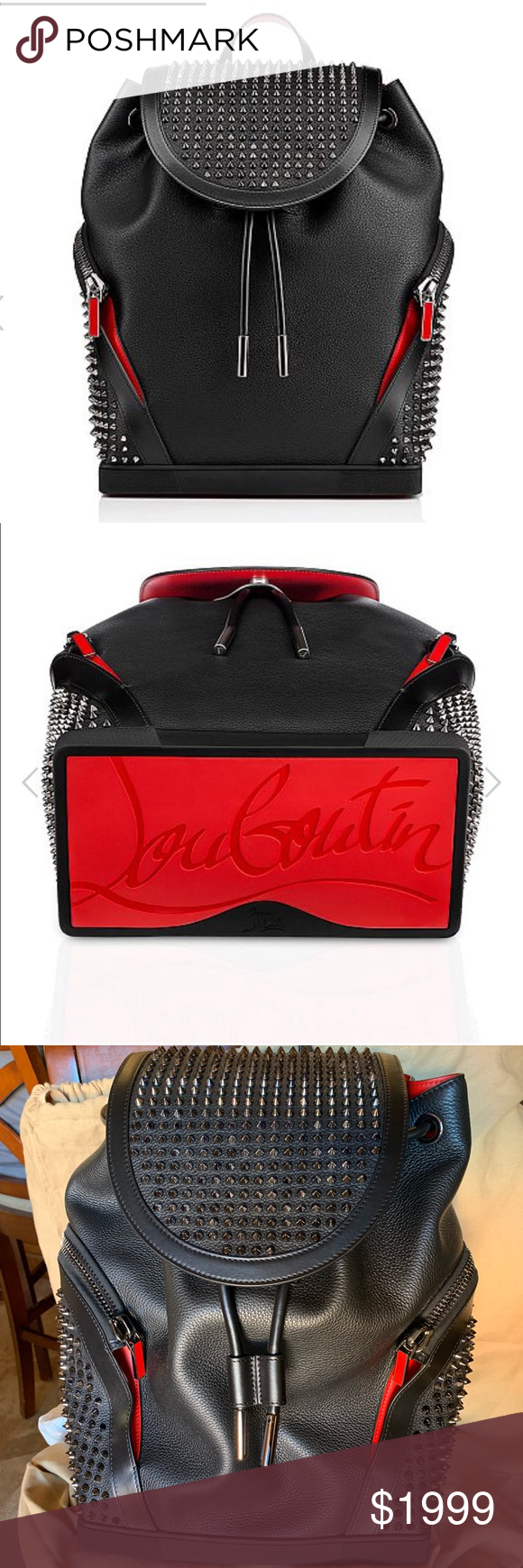 """1862e0331cb Christian Louboutin Explorafunk Backpack-NEW Christian Louboutin  Explorafunk Men s Backpack is brand new. My husband loves his """"Red Bottom""""  shoes"""