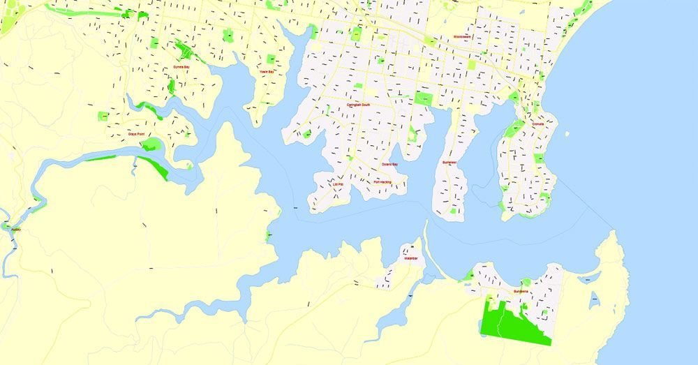 Pin by Vector Maps and City Plans in vector on sydney printable map ...