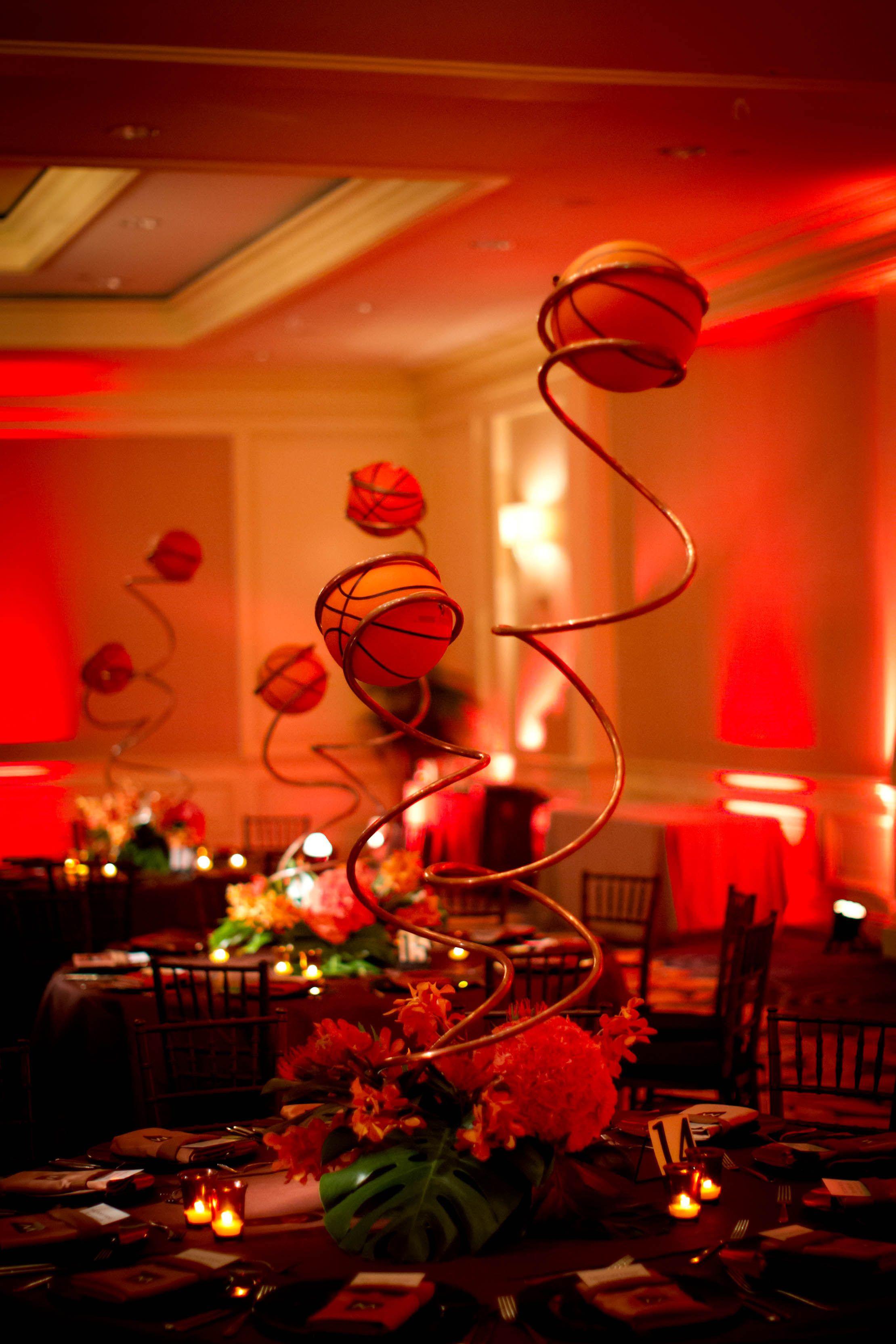 Basketball banquet centerpieces bar mitzvah