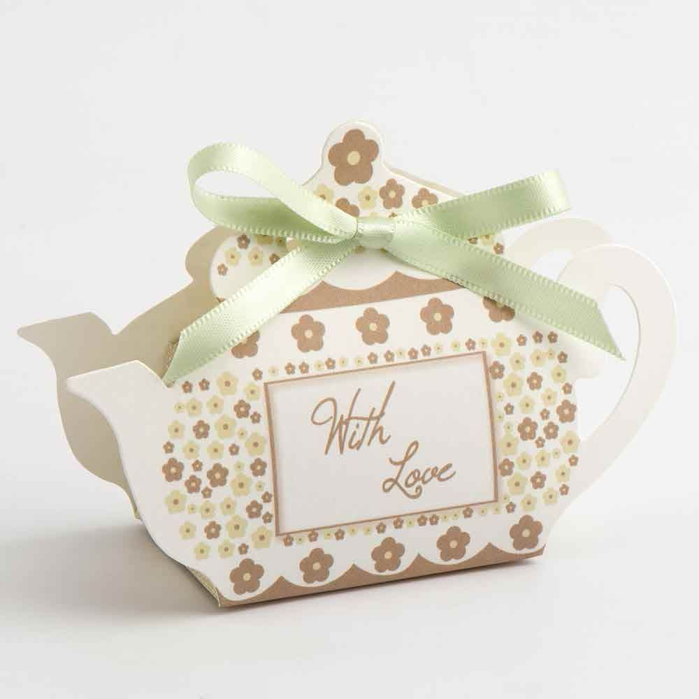 Taupe Teapot Wedding Favour Boxes | Make your Own Wedding Favours ...