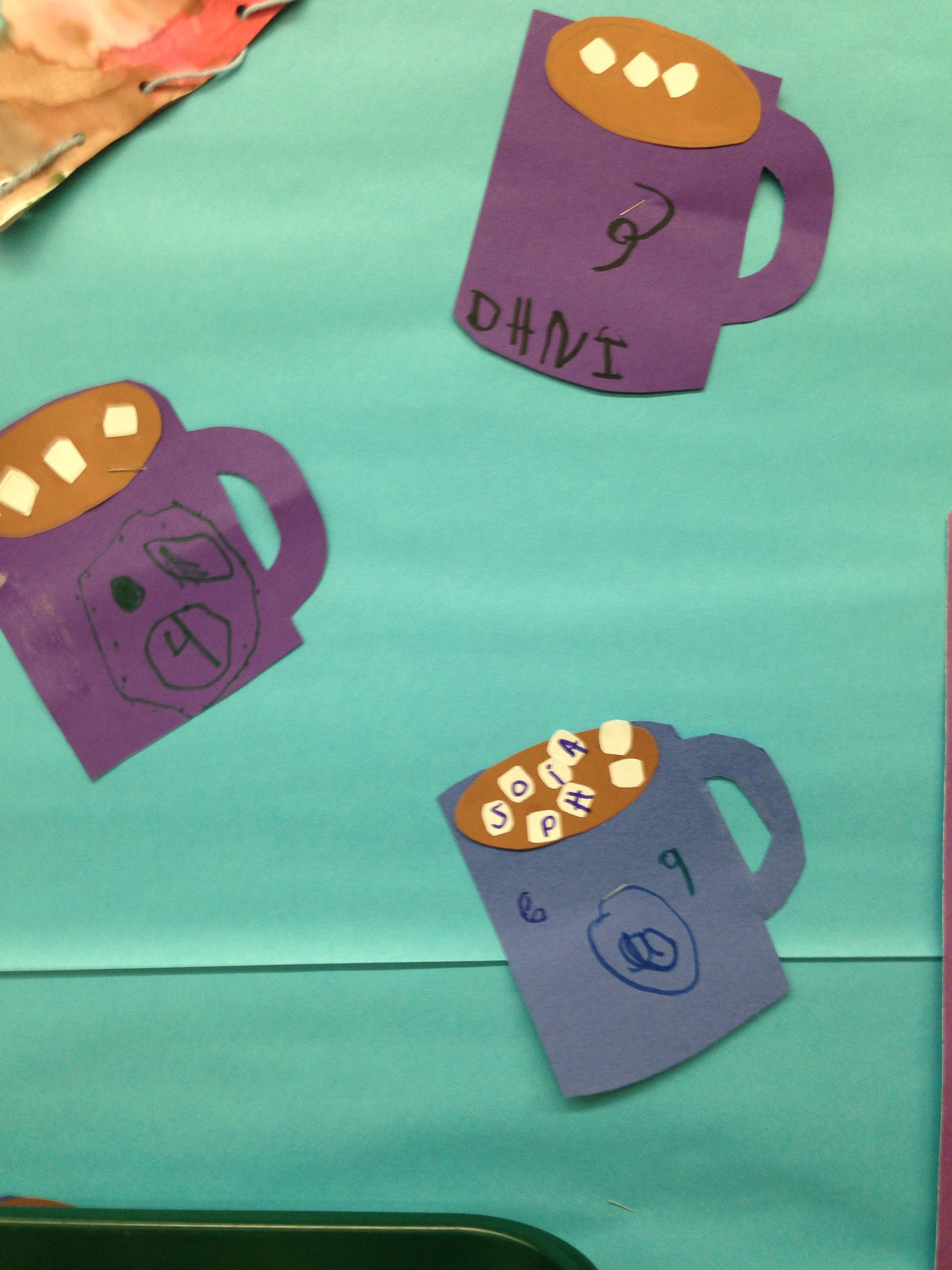 Preschool- Letter M is for mug and marshmallows. The kids ...