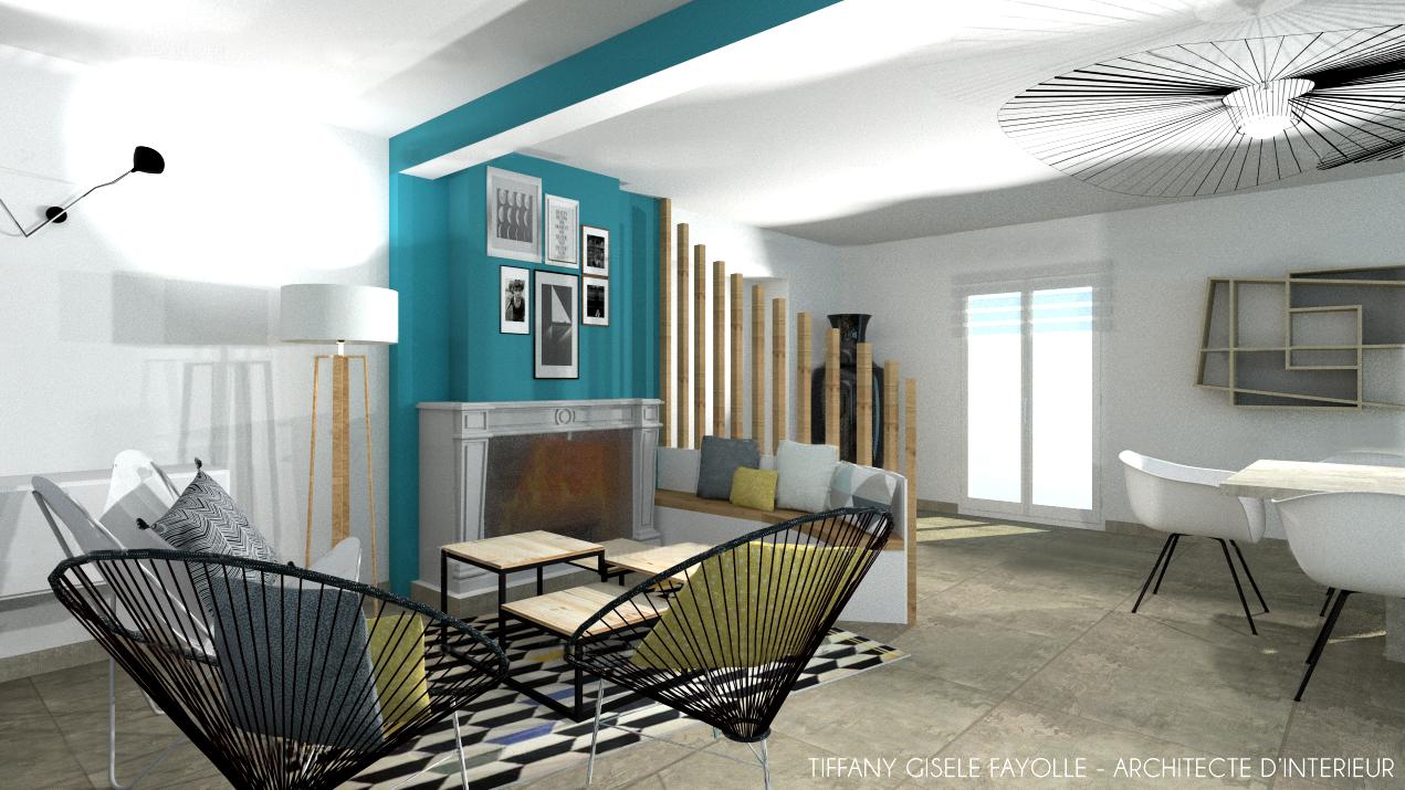 Aménagement de salon contemporain Tiffany Fayolle Architecte d ...