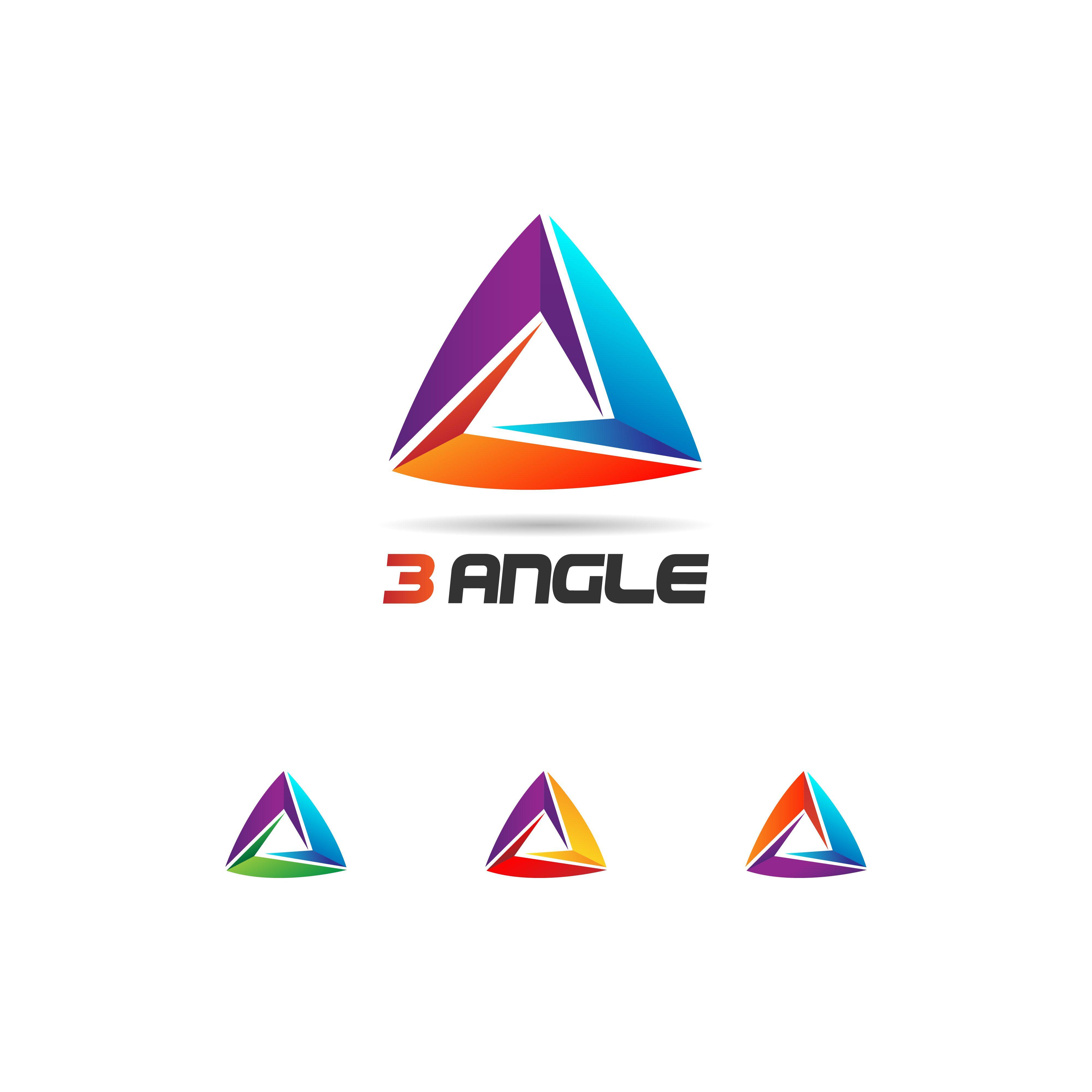 Colorful Looping Triangle Logo Set Logo Set Triangle Logo Circle Logo Design