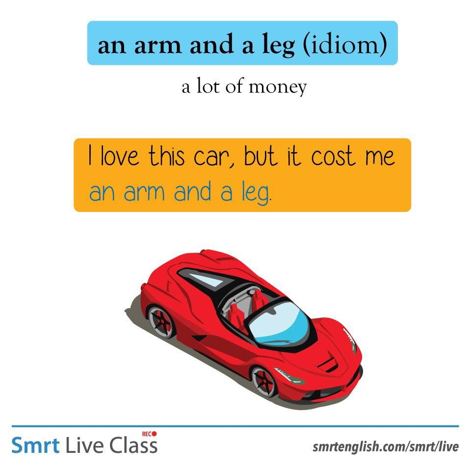 An Arm And A Leg Idiom Meaning In Hindi Idiom An Arm And A Leg Idioms English Idioms Learn English