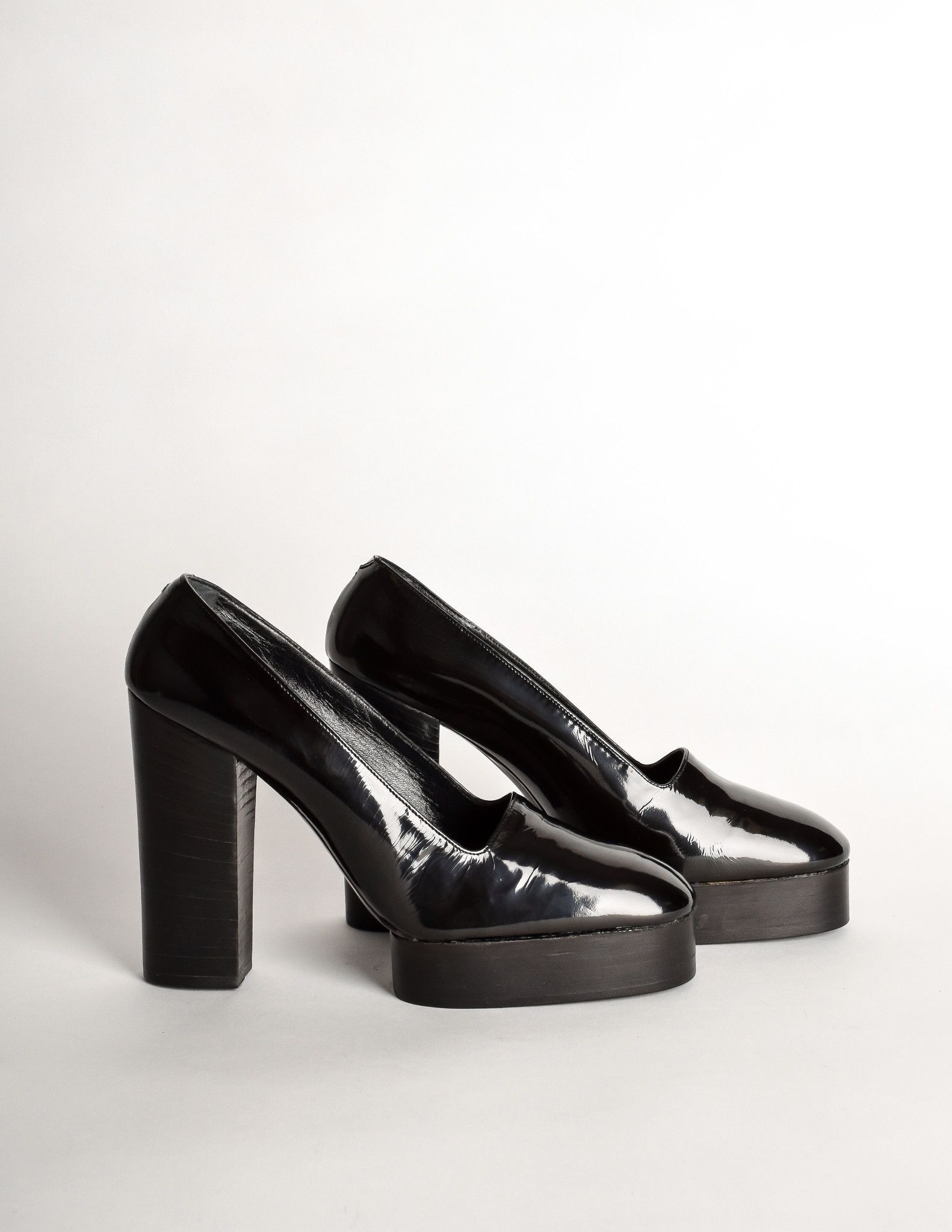 Walter Steiger Patent Leather Platform Pumps discount nicekicks xDBZjj