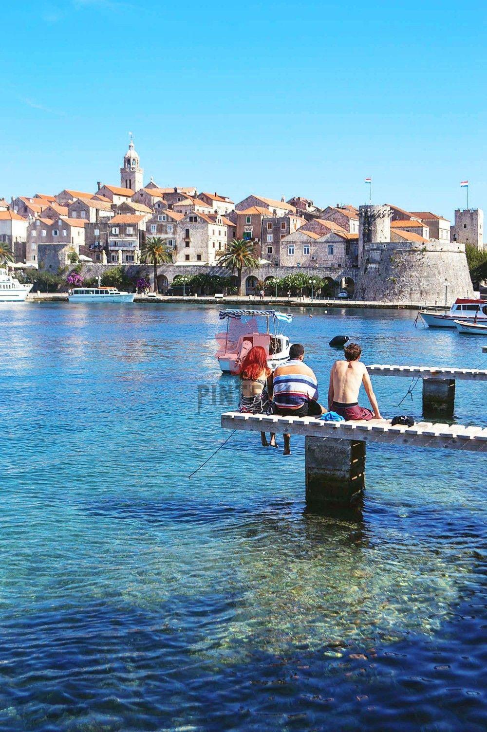 Kroatien Ein Besuch Im Wunderschonen Insel Korcula Heneedsfood Der Schone Hafen Von Korcula Kroatien Heneedsfood Com En 2020 Croacia Ciudades Lugares Del Mundo