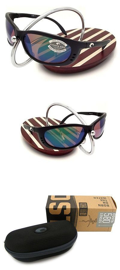 4160a96801533 Sunglasses 79720  New Costa Del Mar Fathom Black 580 Green Mirror Glass 580G  -
