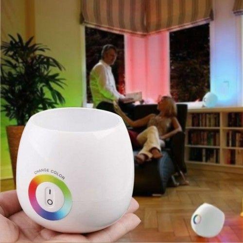 Luminária Projetora de Luzes Coloridas - Touch Projector