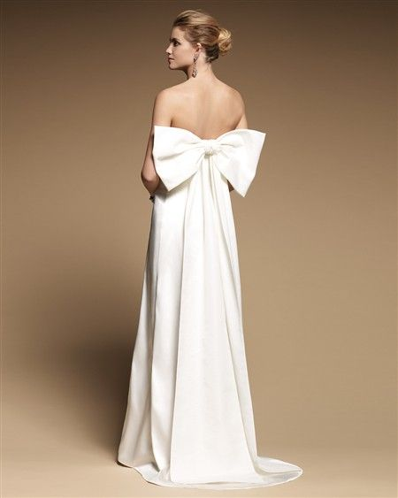 There Is No Occasion Too Small For A Giant Bow Wedding Dress