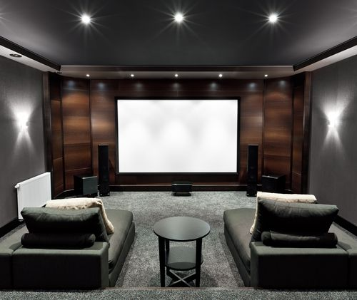 Lounge Chaises For Tv Viewing Photo By Shutterstock With Images Home Cinema Room Home Theater Rooms