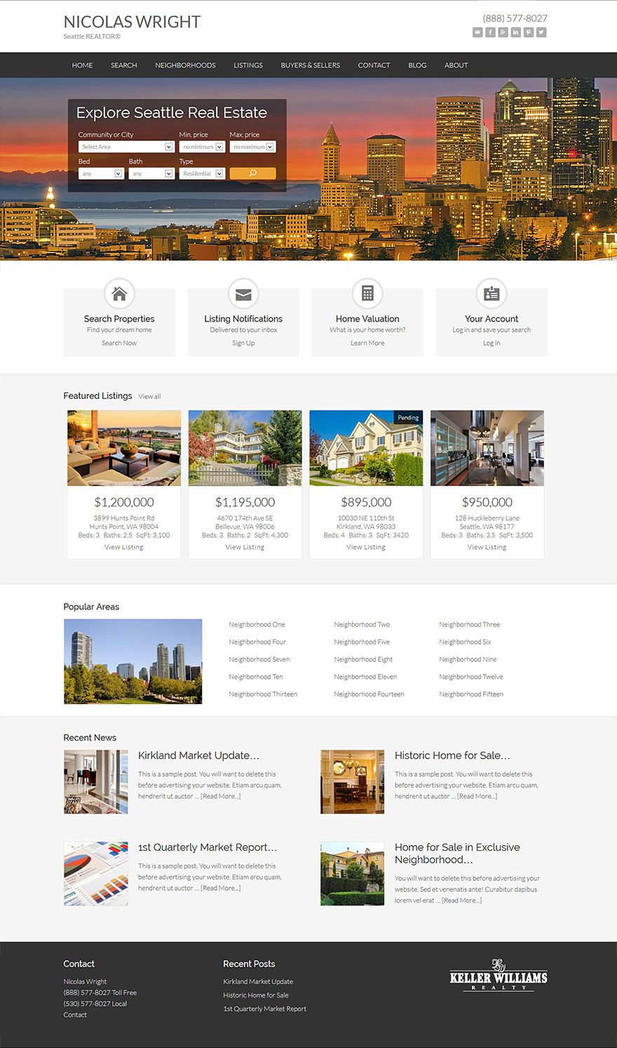Pin By Idxcentral On Wordpress Real Estate Websites Real Estate Website Design Real Estate Website Custom Website Design