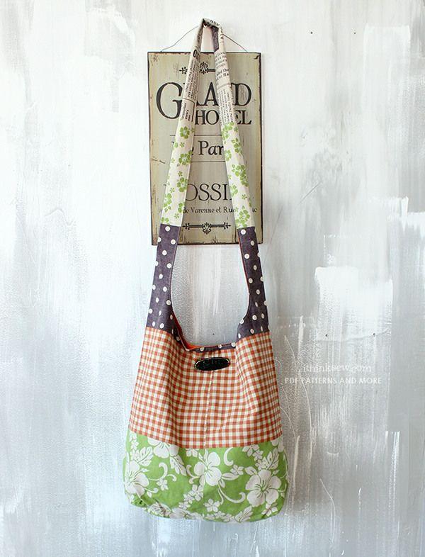 Alex Messenger Bag PDF Pattern | Sewing | Pinterest | Bags, Sewing ...