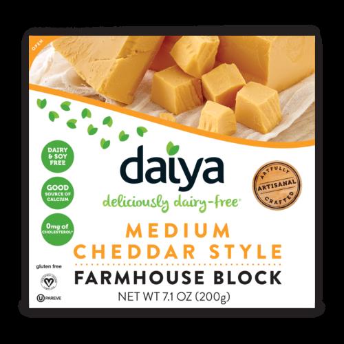 Blocks Daiya Foods Deliciously Dairy Free Cheeses Meals More Vegan Cheese Dairy Free Cheese Cheddar Mac And Cheese