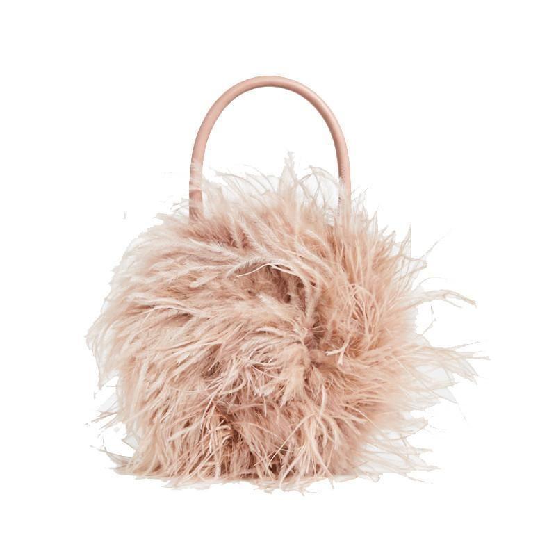 bf6c64708fa Chloe Ostrich Feather Bag in 2019   Boss Bags!   Bags, Fur bag ...