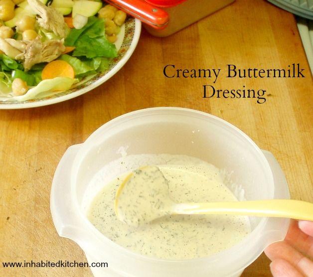 Creamy Buttermilk Dressing Recipe Condiment Recipes Food Processor Recipes Buttermilk Dressing