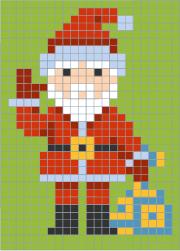 Coloriage Codé Le Père Noël Pixel Art Noel Pixel Art Et