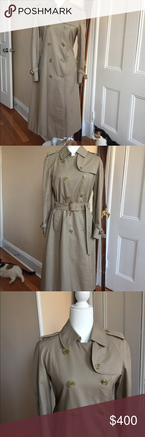Last Chance Vintage Burberry Long Trench Size 8 Long Trench Burberry Trench Coat Burberry
