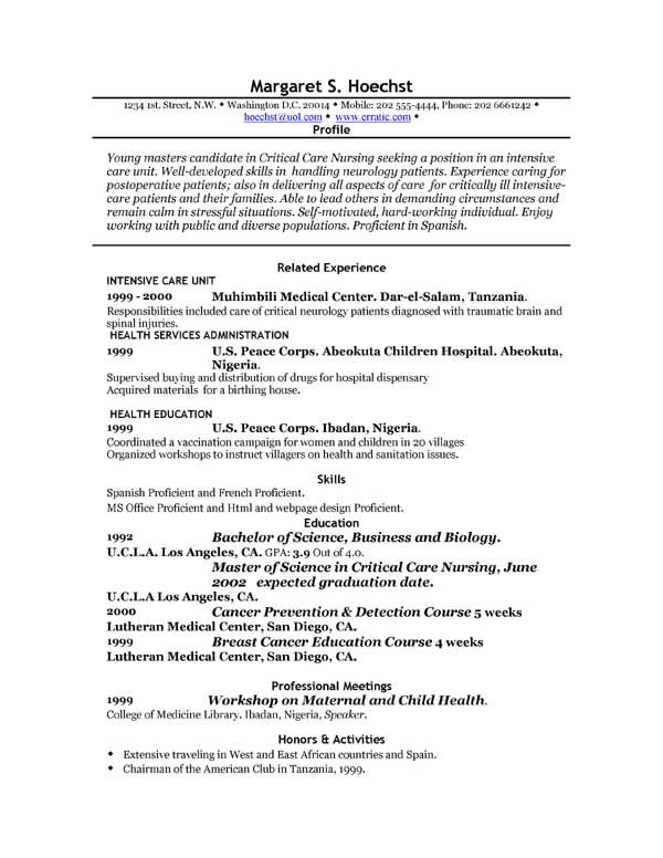 Resume Examples For Electronics Engineering Students  HttpWww