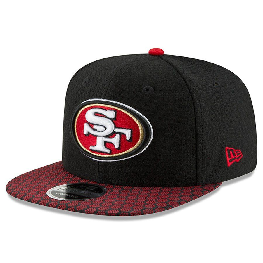 2a12858bbab Youth San Francisco 49ers New Era Black 2017 Sideline Official 9FIFTY  Snapback Hat